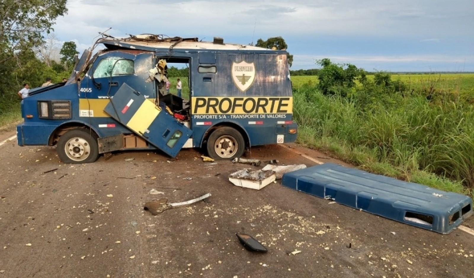 Carro Forte é assaltado na BR 235 entre Guaraí e Tupirama