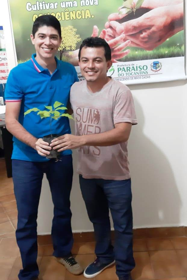 Prefeitura de Paraíso realiza doação de mudas que serão utilizadas na TO 447