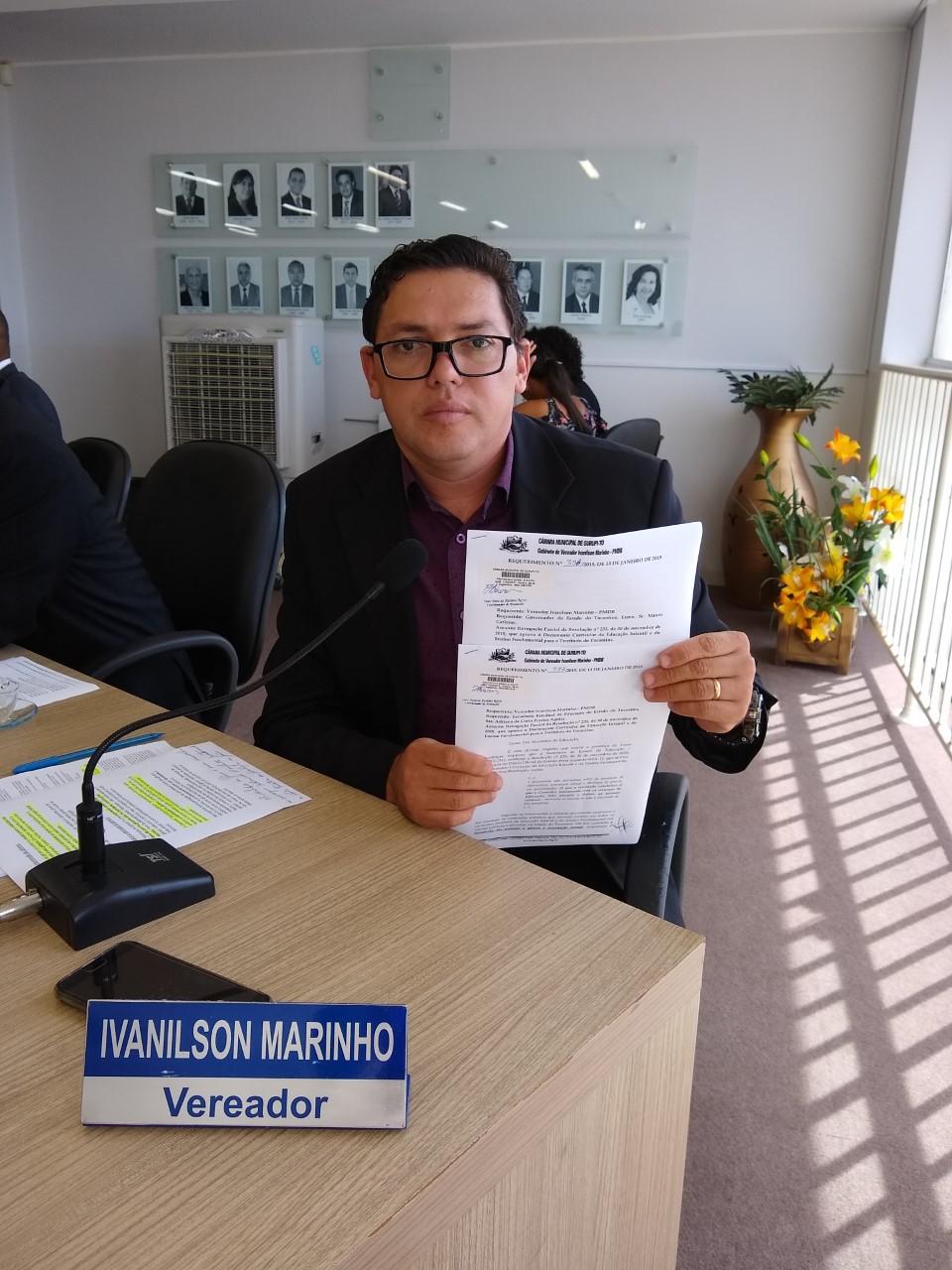 Ivanilson Marinho pede revogação parcial da resolução 235 que inclui ensino identidade de gênero nas escolas do Tocantins