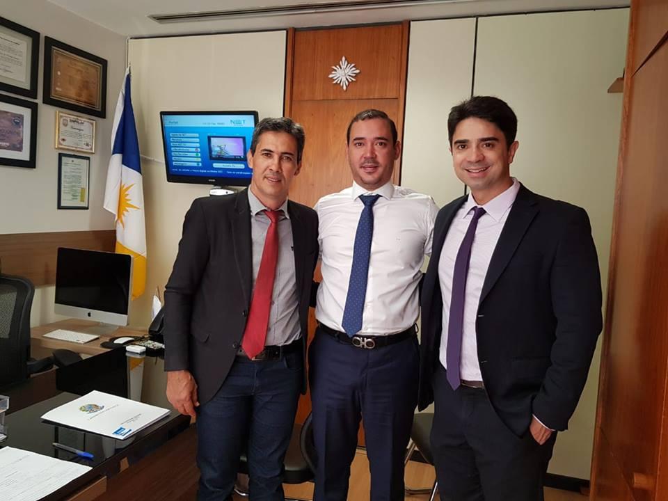 Prefeito e Vice de Lajeado, reúne com ministro do Desenvolvimento Regional, Gustavo Canuto em Brasília