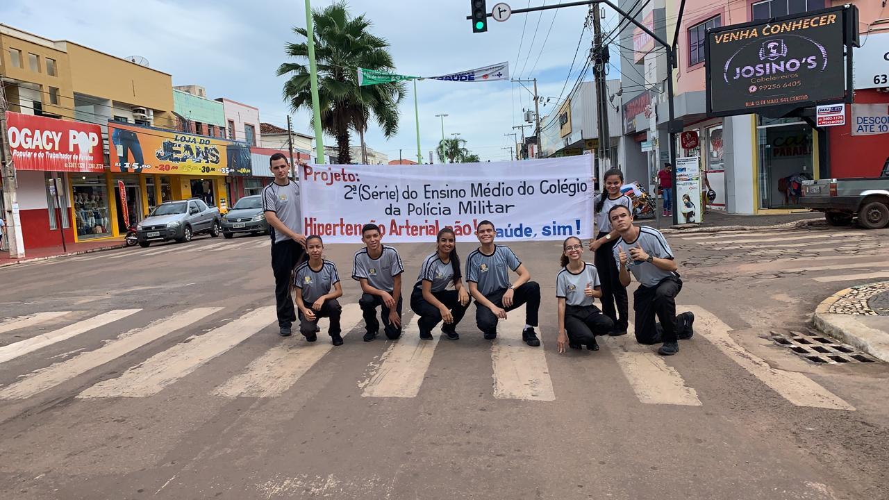 Colégio da Polícia Militar de Paraíso realiza campanha de prevenção à hipertensão