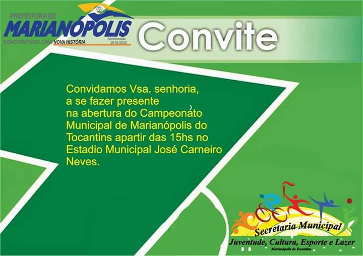 Começa neste sábado, 23, o Campeonato Municipal de Futebol de Marianópolis