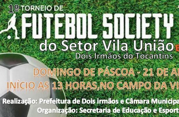 1º Torneio de Futebol Society do Setor Vila União acontece no próximo domingo, 21, em Dois Irmãos