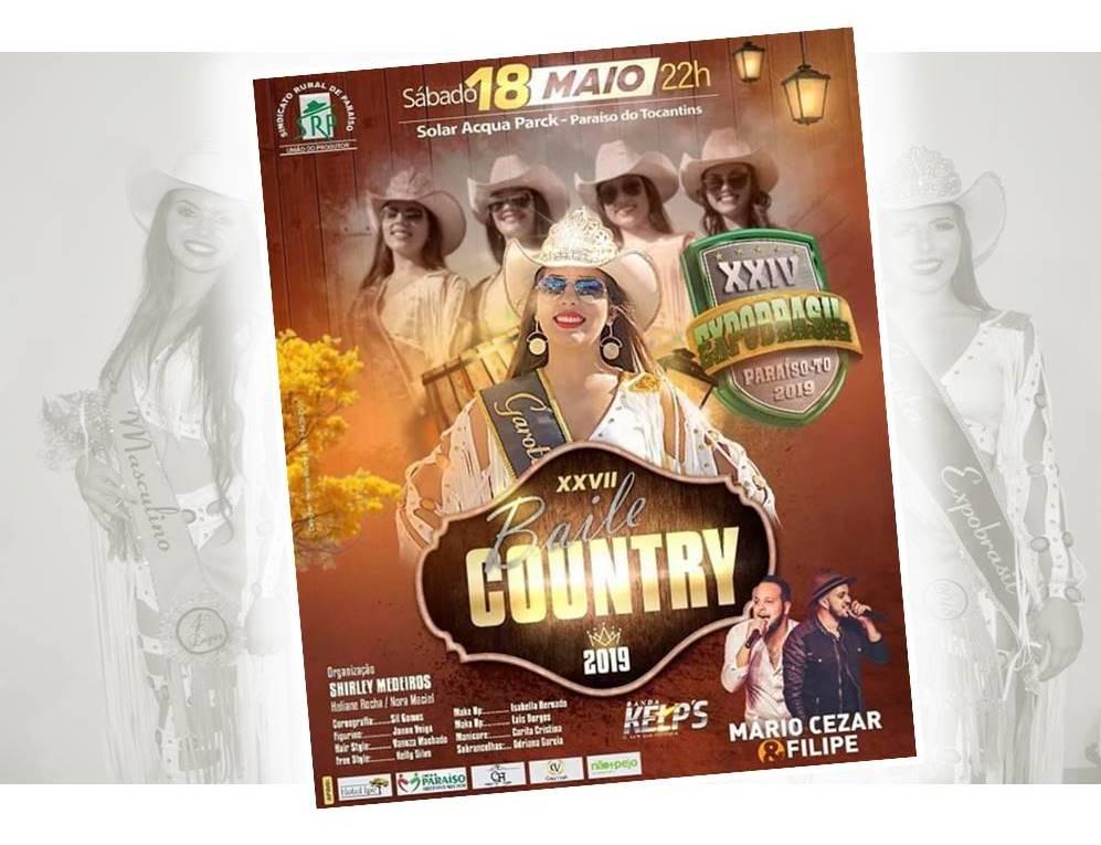 Confira as atrações do Baile Country da Expobrasil 2019 em Paraíso