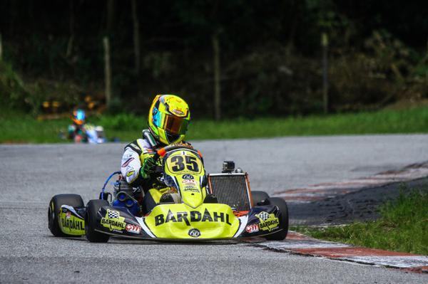 Evolução nas baterias garante a Pedro Aizza o segundo lugar no grid da final do Brasileiro de Kart