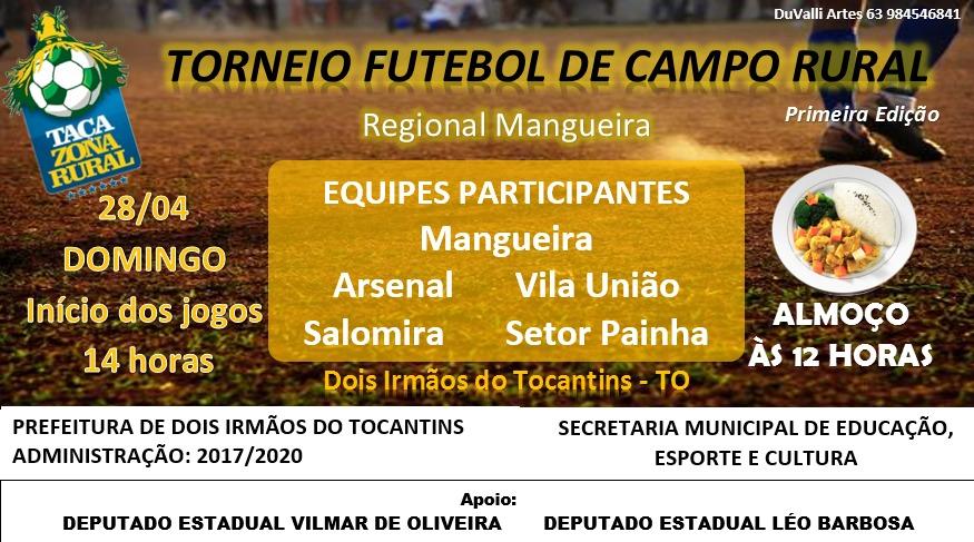 Prefeitura de Dois Irmãos realiza neste domingo, 28, Torneio de Futebol de Campo Rural