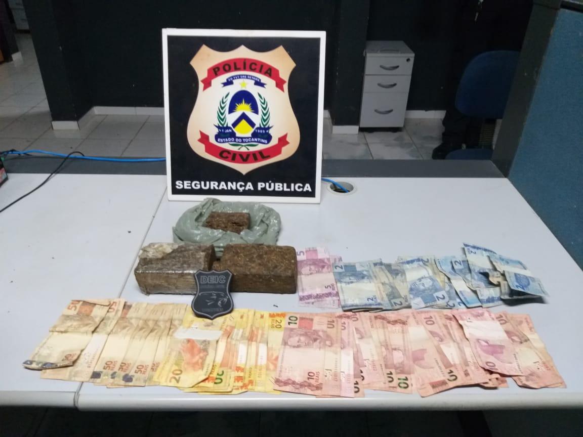 Polícia Civil apreende 1kg de maconha e prende traficante em Araguaína
