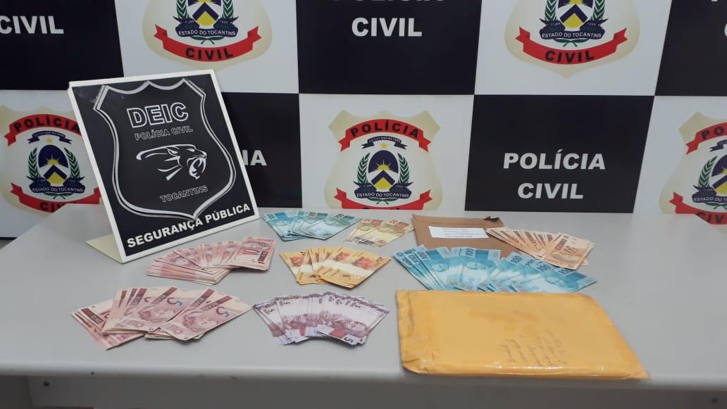 Polícia Civil apreende cerca de R$ 10 mil reais em notas falsas em Palmas