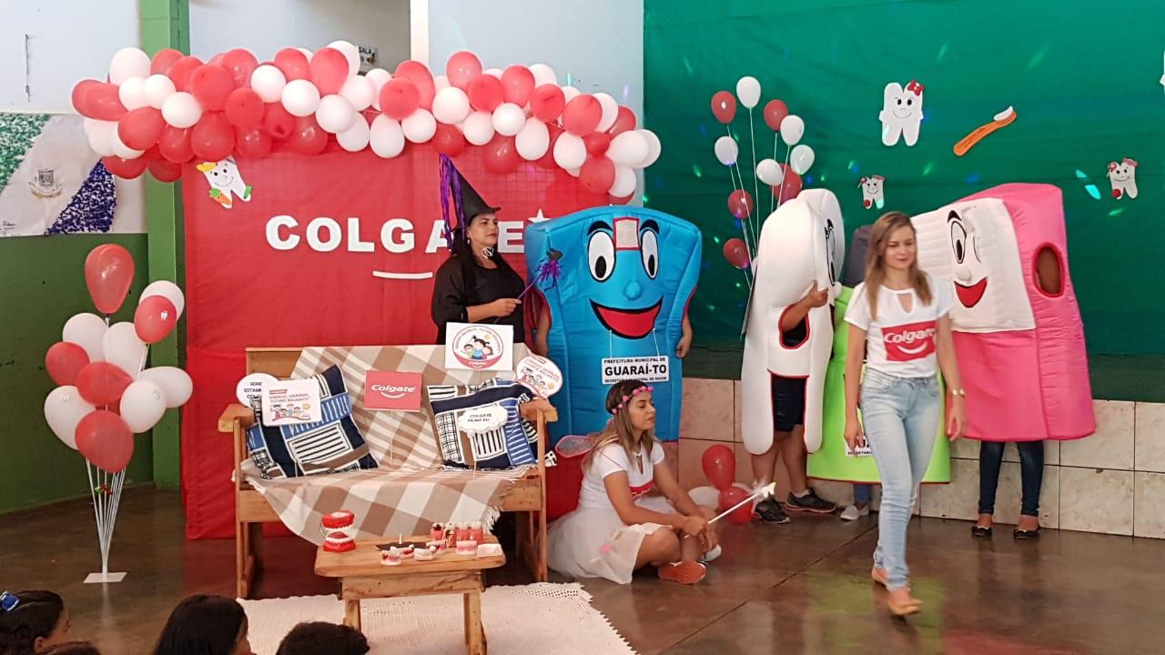 Em parceria com multinacional, Prefeitura de Guaraí entrega kits e leva orientações de saúde bucal a mais de 1.000 crianças