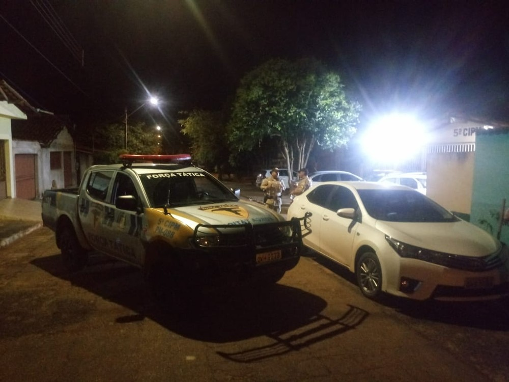PM recupera carro roubado após perseguição por quatro cidades no norte do estado