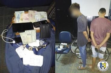Suspeitos de roubo são presos e objetos recuperados pela PM na capital