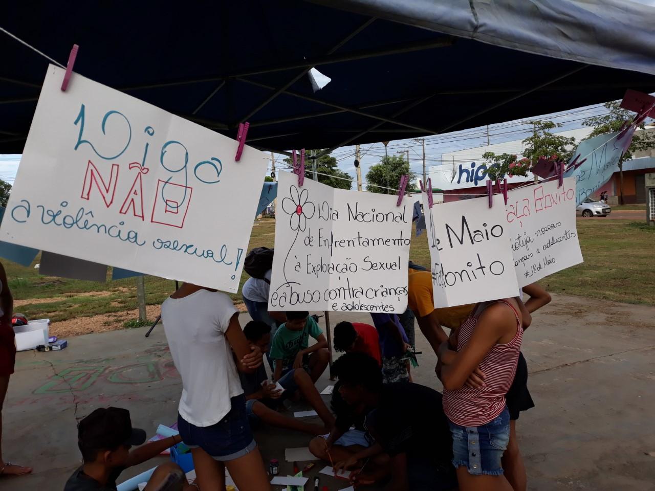 Adolescentes soltam pipas e dialogam sobre enfrentamento à violência sexual