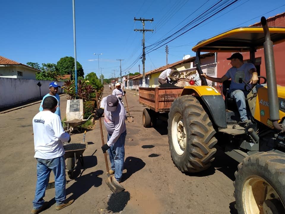 Prefeitura de Araguacema finaliza primeira etapa da operação tapa-buracos
