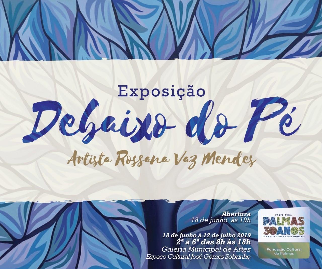 Debaixo do Pé, exposição de Rossana Mendes será aberta na Galeria Municipal de Artes em Palmas