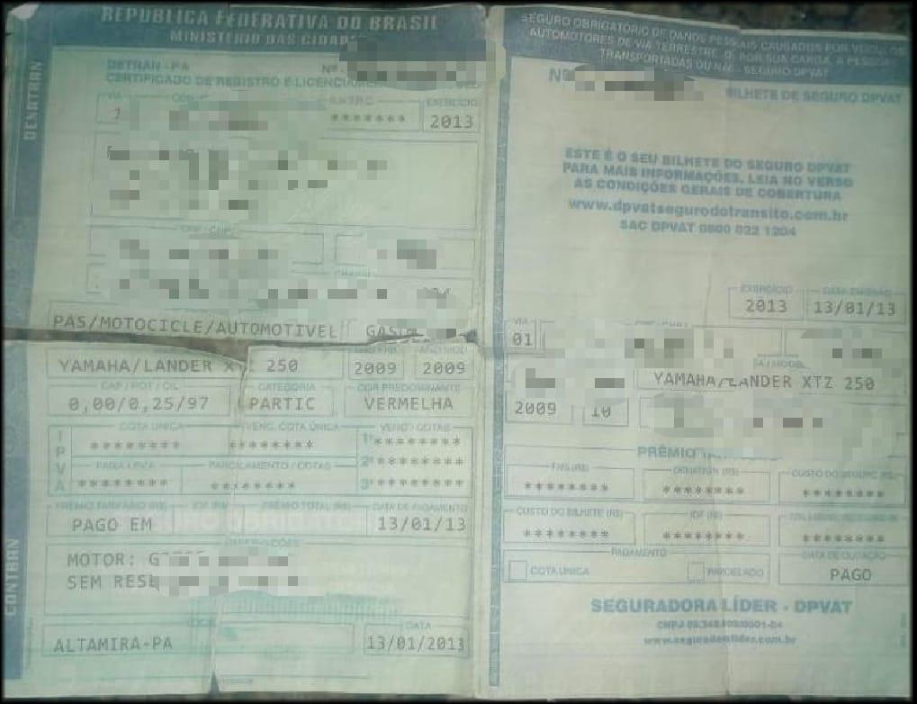Polícia Militar detém homem com documento de moto falso em Araguaína