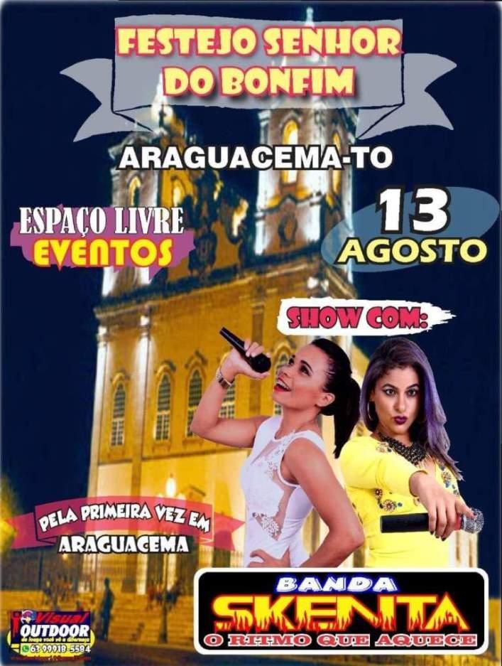 Banda Skenta animará Festejo do Senhor do Bonfim no dia 13 de agosto em Araguacema