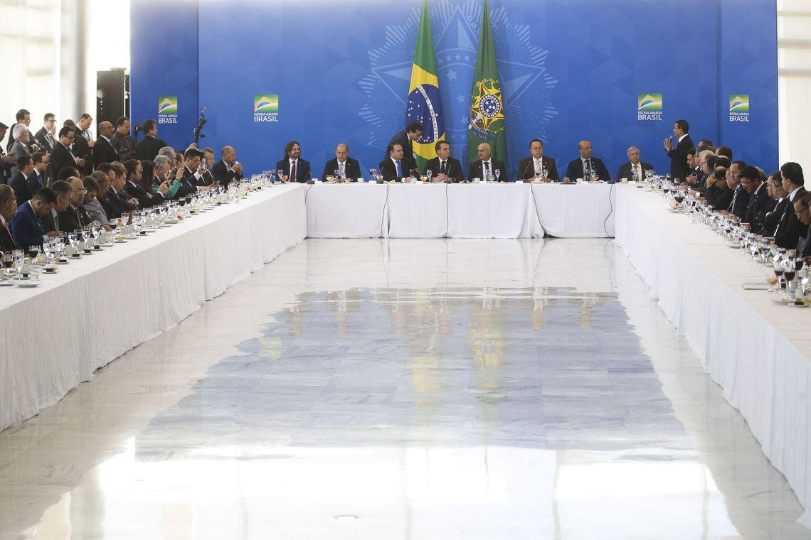 Bolsonaro recebe bancada da Frente Parlamentar Evangélica