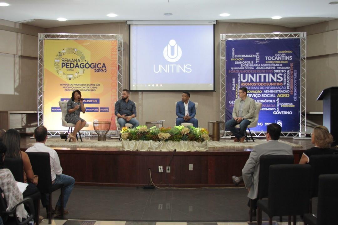 FIETO reforça a importância do trabalho alinhado com interesses do mercado, durante Seminário na Semana Pedagógica da Unitins