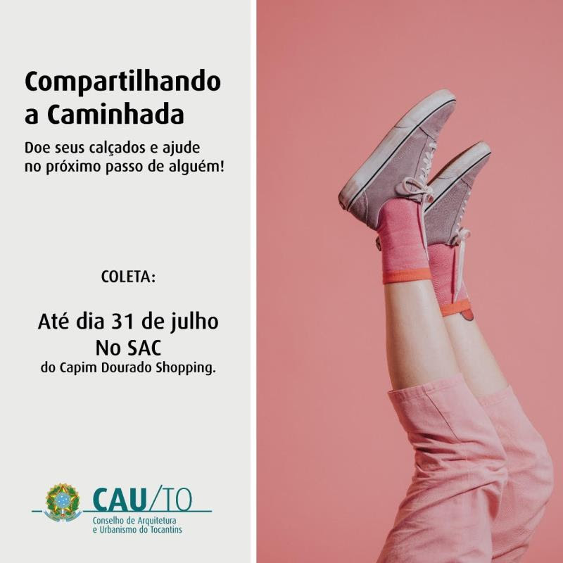 """Campanha """"Compartilhando a Caminhada"""" arrecada calçados para instituições filantrópicas"""