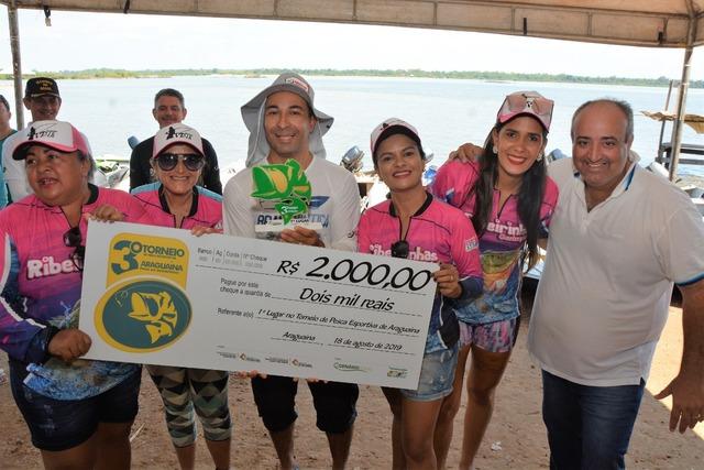 Equipe feminina estreia com vitória no 3° Torneio de Pesca Esportiva de Araguaína