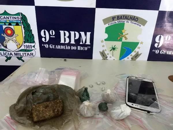 PM prende traficante com maconha e crack na Vila Miranda em Araguatins