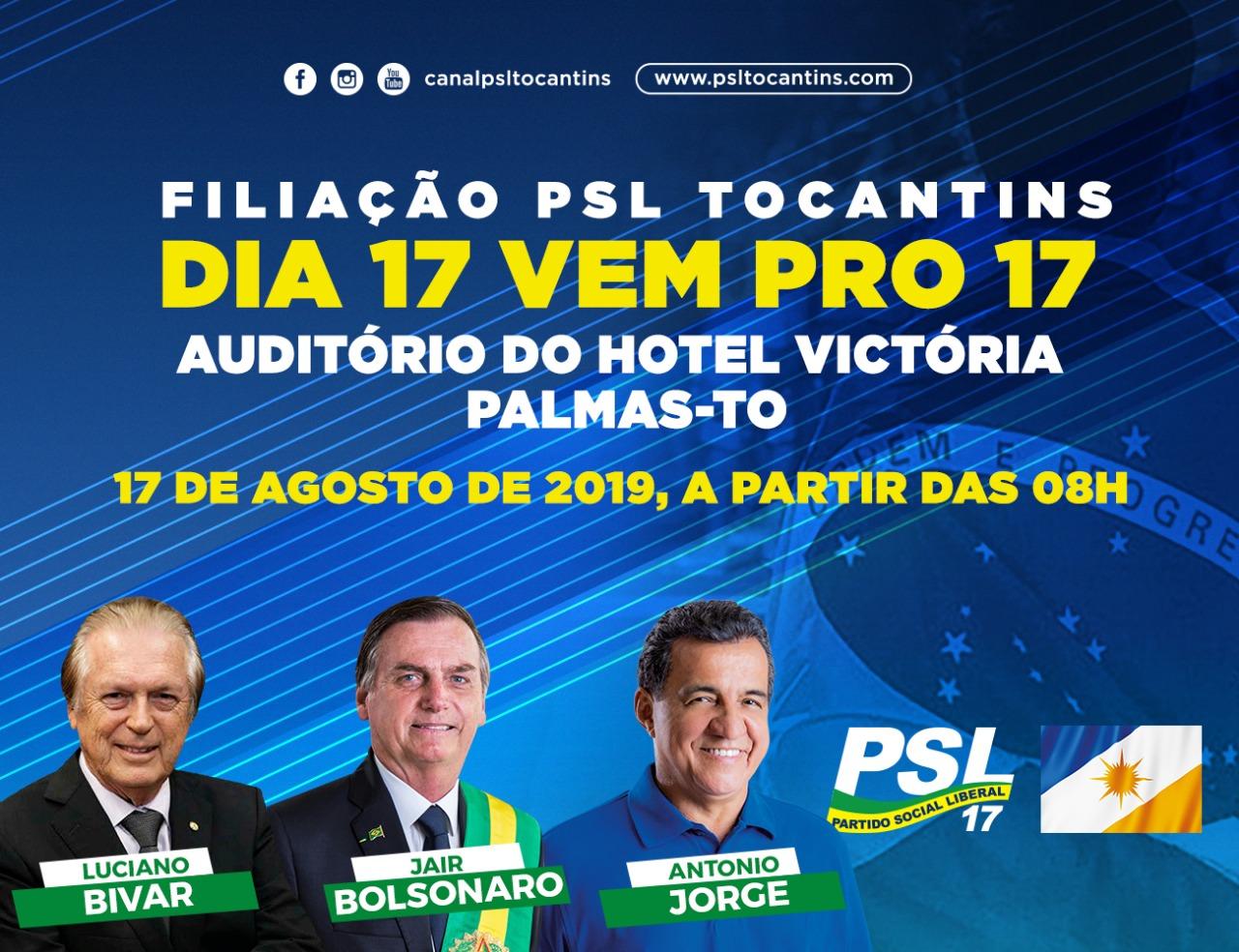 PSL Tocantins realiza evento estadual de filiação neste sábado, 17