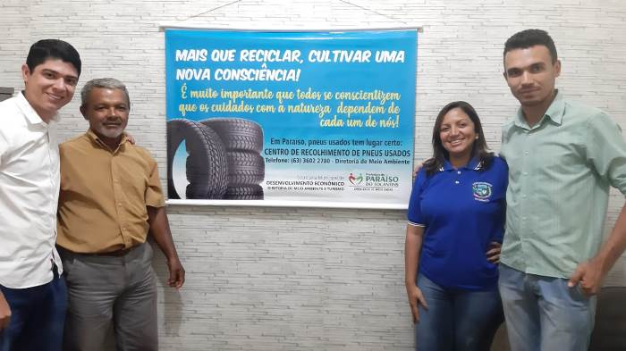 Prefeitura de Dois Irmãos firma acordo com Município de Paraíso para recolhimento de pneus e baterias