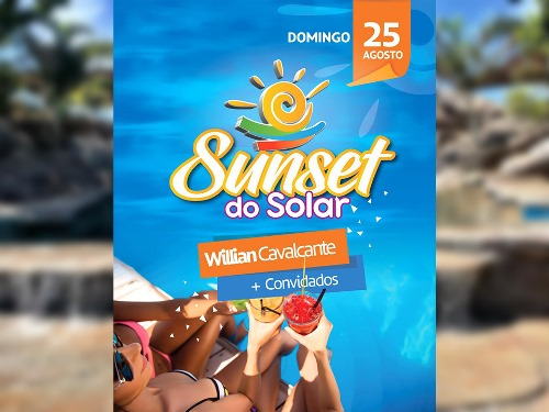 Willian Cavalcante se apresenta na Sunset do Solar neste domingo (25) em Paraíso