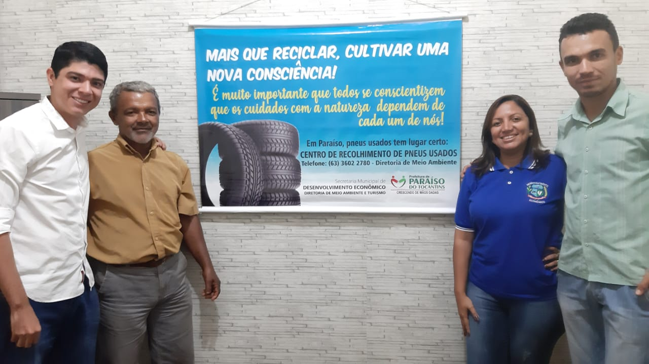 Prefeituras de Paraíso e Dois Irmãos firmam parceria para recolhimento de Pneus usados, pilhas e Baterias
