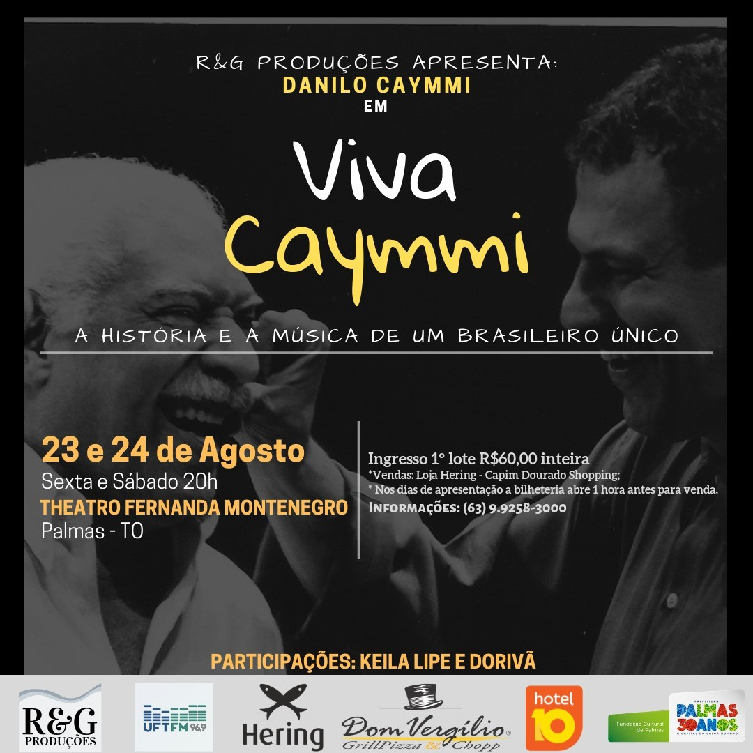 Danilo Caymmi apresenta 'Viva Caymmi', nos dias 23 e 24 no Theatro Fernanda Montenegro