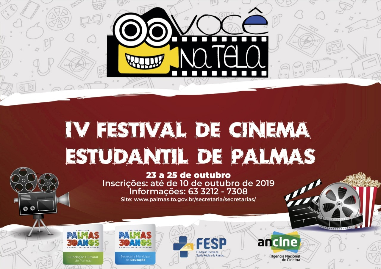 Estudantes têm até 10 de outubro para se inscreverem no IV Festival de Cinema Estudantil Você na Tela