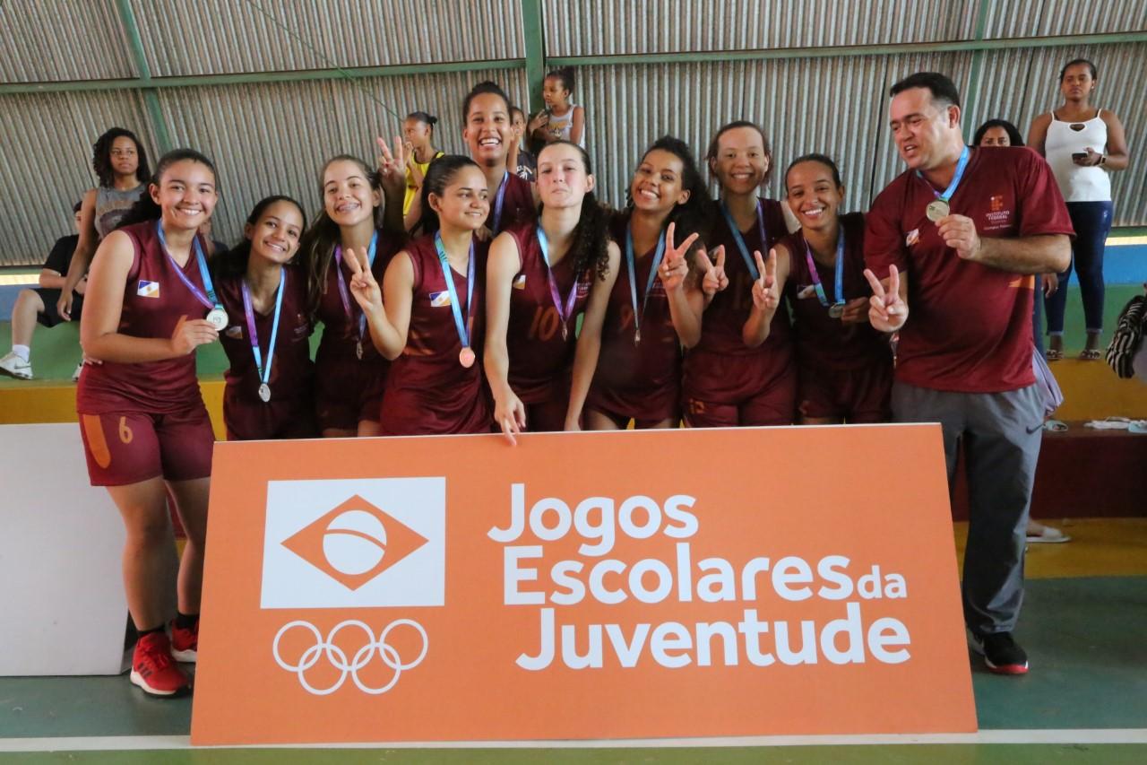 Equipe de Basquetebol representará o Tocantins na fase nacional dos Jogos Escolares da Juventude