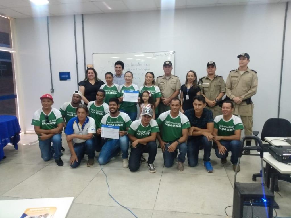 PM em parceria com o Senai realiza formatura de Curso de Pedreiro de Alvenaria em Palmas