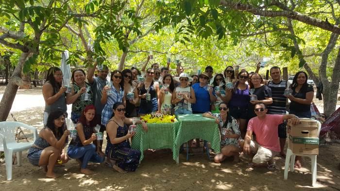 Equipe da Educação de Chapada de Areia participa de festa de confraternização
