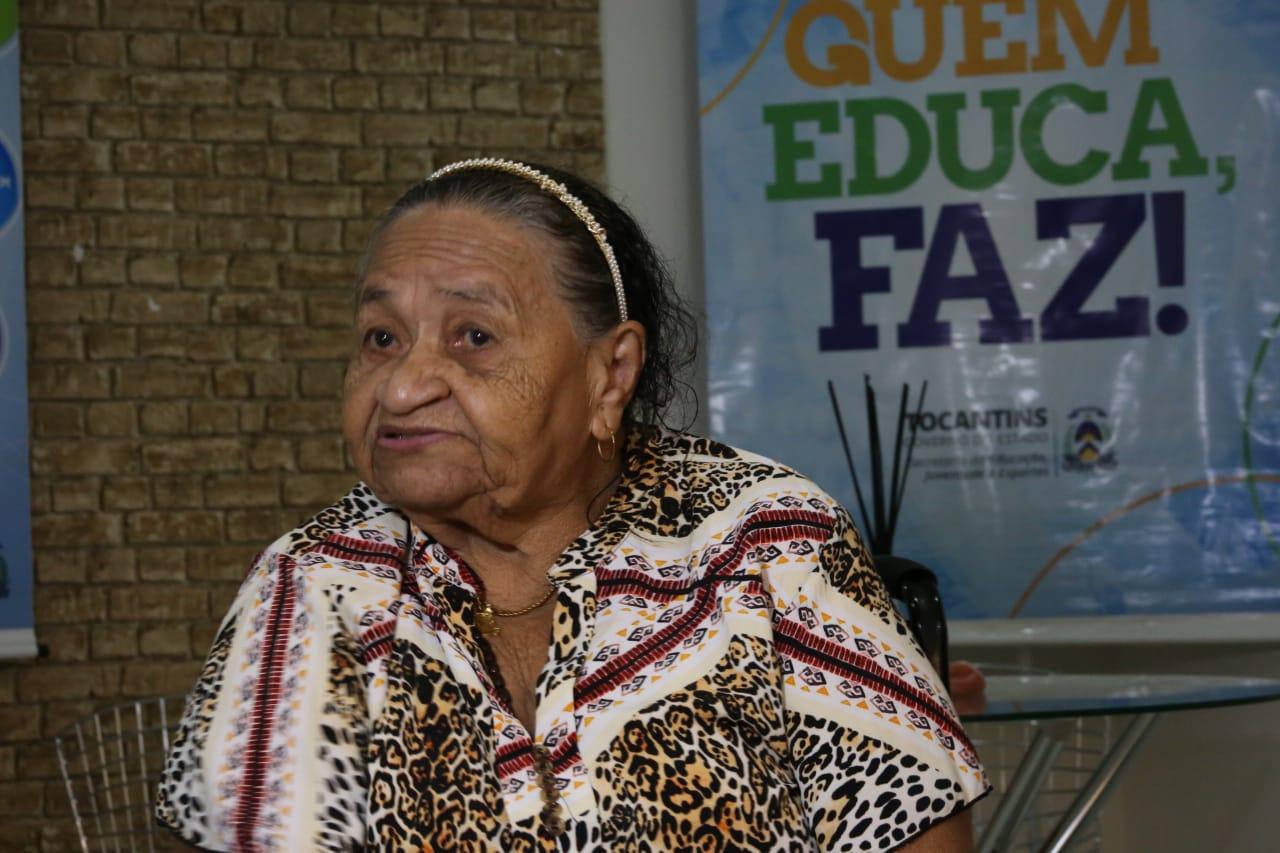 Professora aposentada Djanira Luz Viana tem orgulho de fazer parte da história da Educação no Tocantins