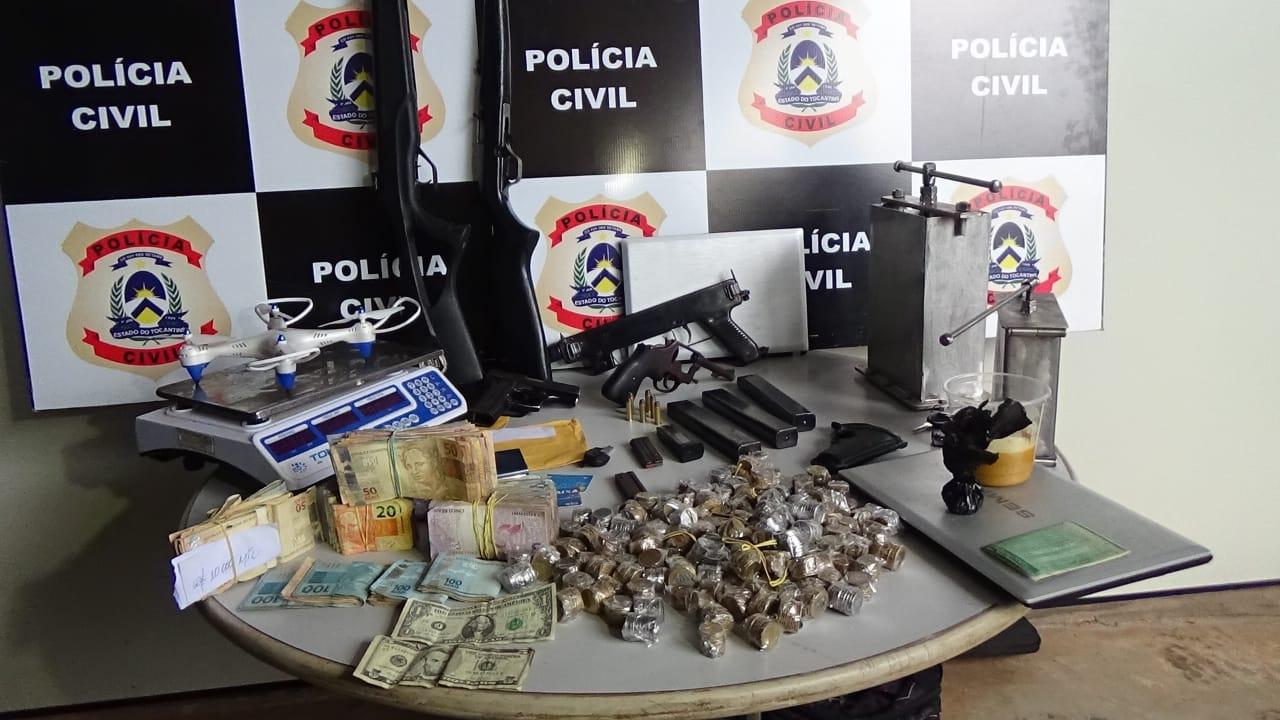 Operação Bóreas prende nove pessoas em Araguaína por tráfico