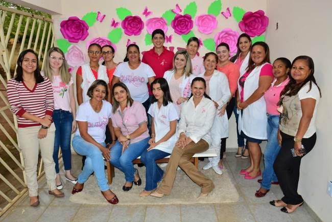 Prefeito interino Celso Morais participa da programação do Projeto Saúde da Mulher na UBS Wilfran Marinho, em Paraíso