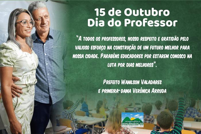 Professores de Dois Irmãos são homenageados pelo prefeito Wanilson Valadares