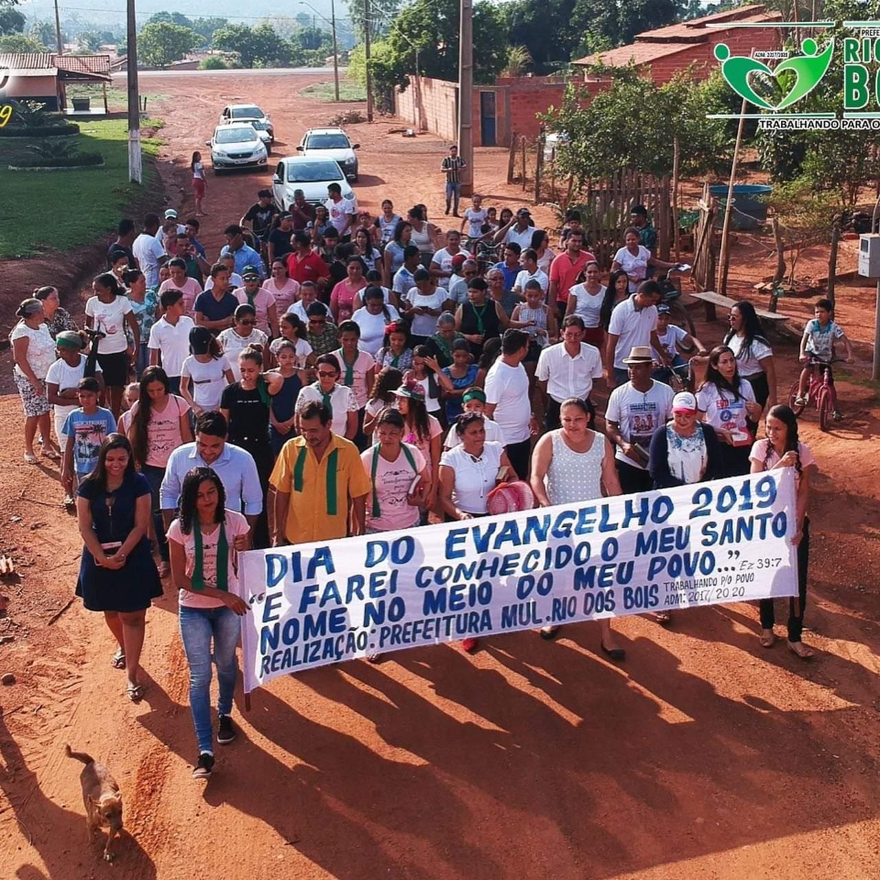 Cidade de Rio dos Bois celebra o Dia do Evangelho 2019
