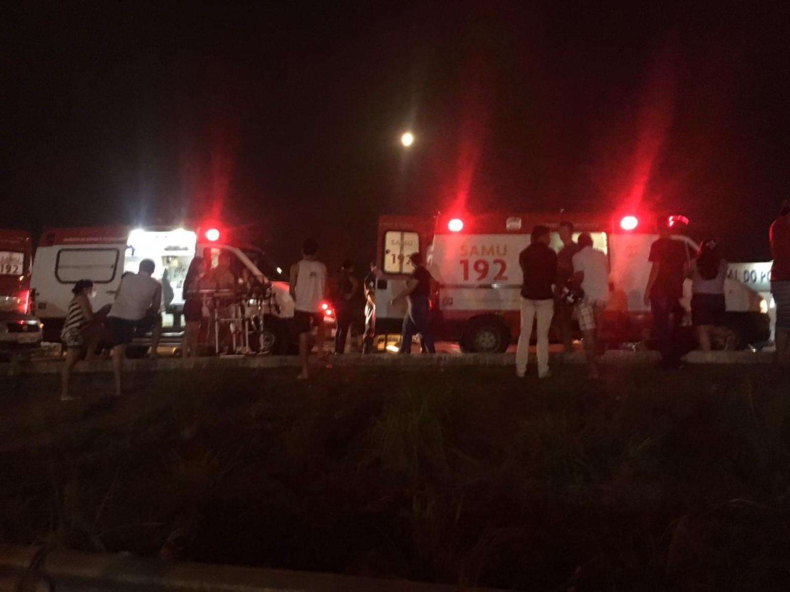 Batida deixa motociclista gravemente ferido em Palmas