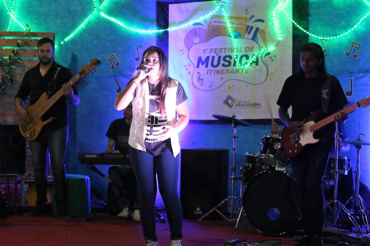 Show de talentos marcam final do 1° Festival Itinerante de Música da Juventude em Araguaína