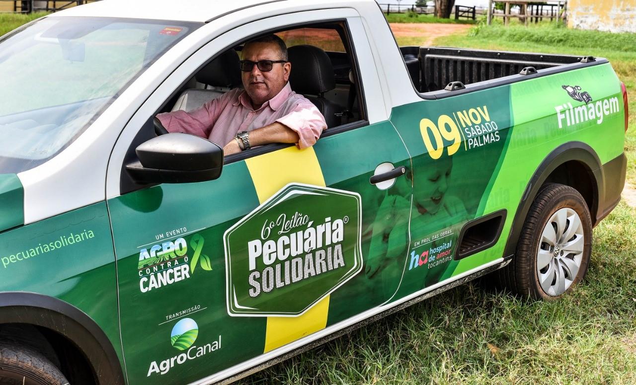 Equipe do Leilão Pecuária Solidária vai a campo filmar doações; evento será dia 9 de novembro em Palmas