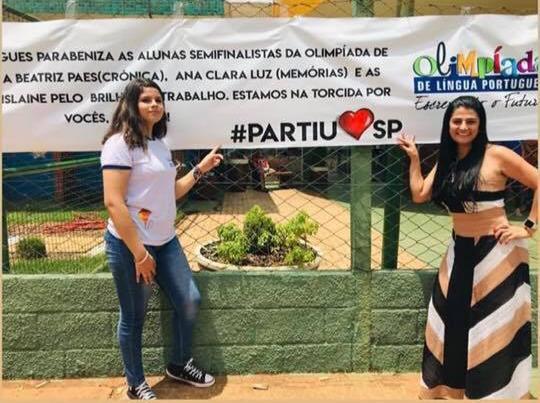 Alunas da rede municipal de ensino se classificam para a semifinal da Olimpíada de Língua Portuguesa