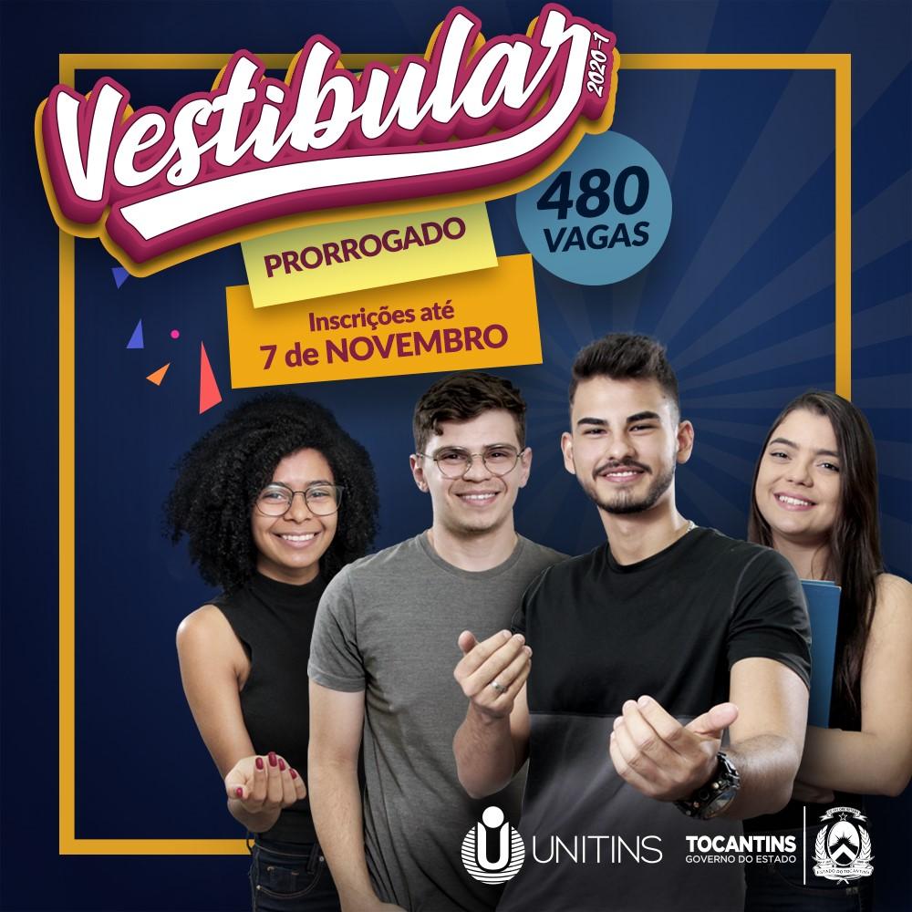 Universidade Estadual prorroga inscrições para Vestibular 2020/1 até 7 de novembro