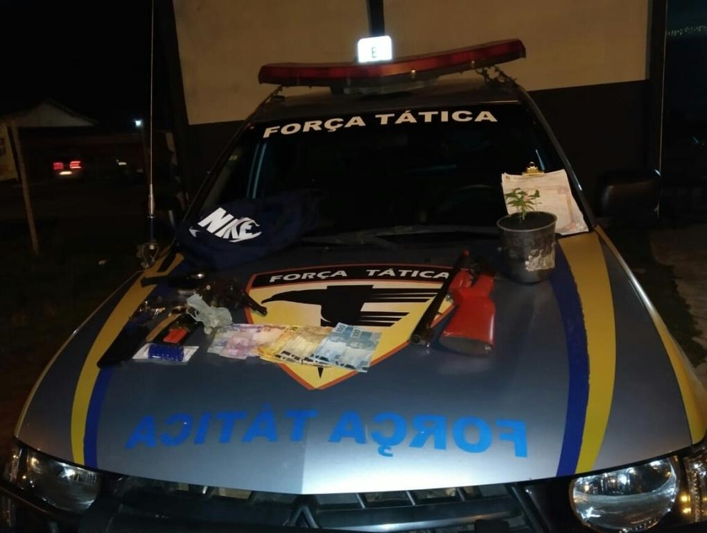 Polícia Militar prende homem por posse ilegal de arma de fogo e posse de drogas em Araguaína