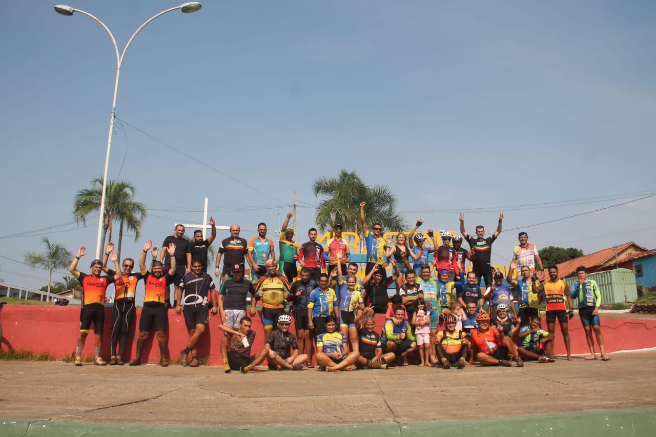 Ciclistas participam de passeio cicloturístico entre Paraíso e Miracema