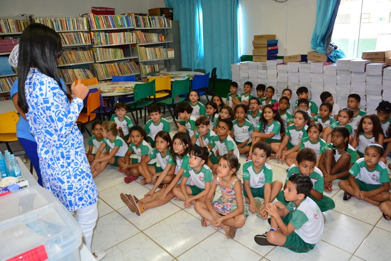Estudantes da rede municipal de Paraíso se divertem enquanto aprendem a cuidar da saúde bucal