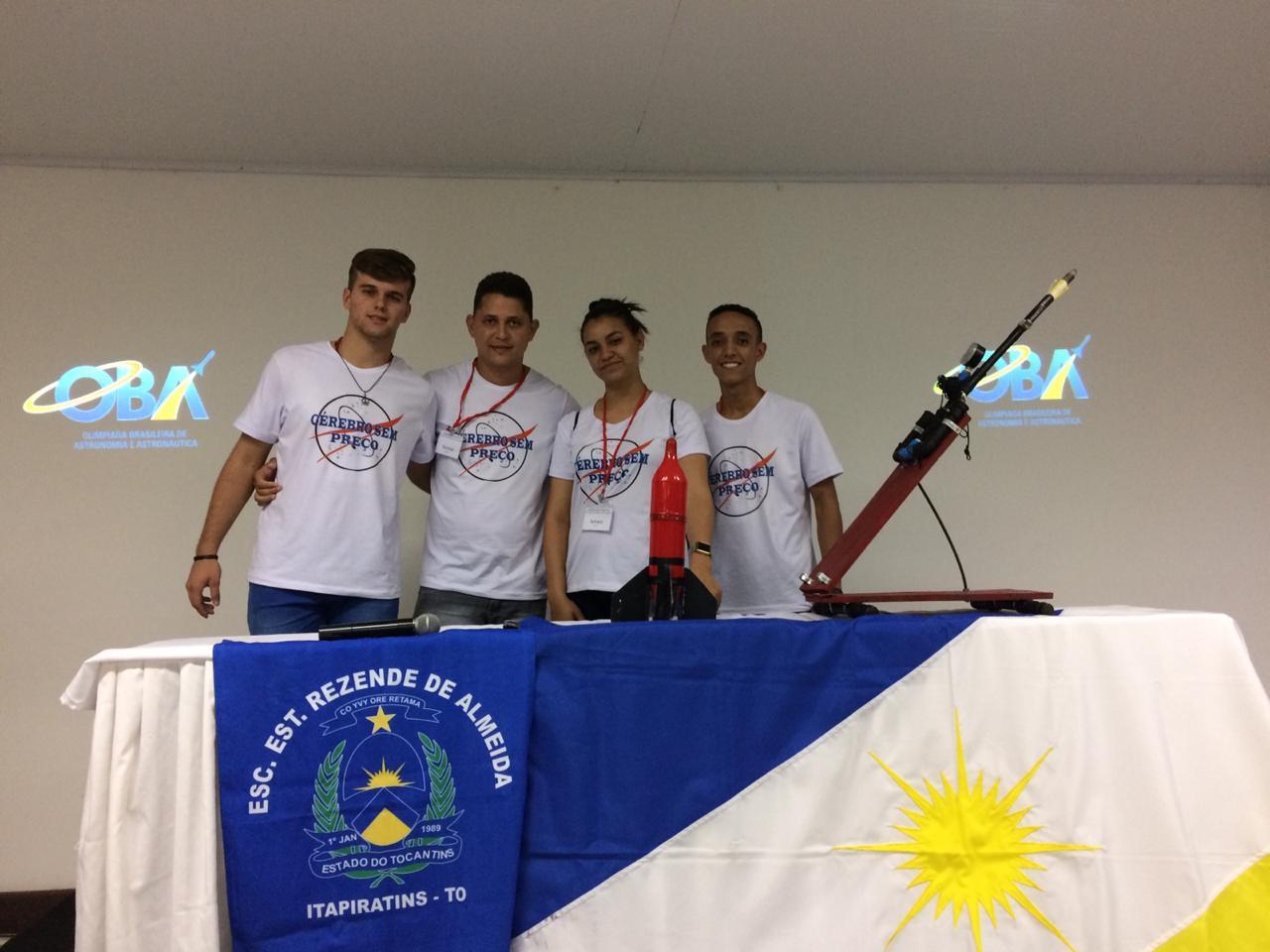 Estudantes tocantinenses conquistam medalha de ouro na Mostra Brasileirade Foguetes