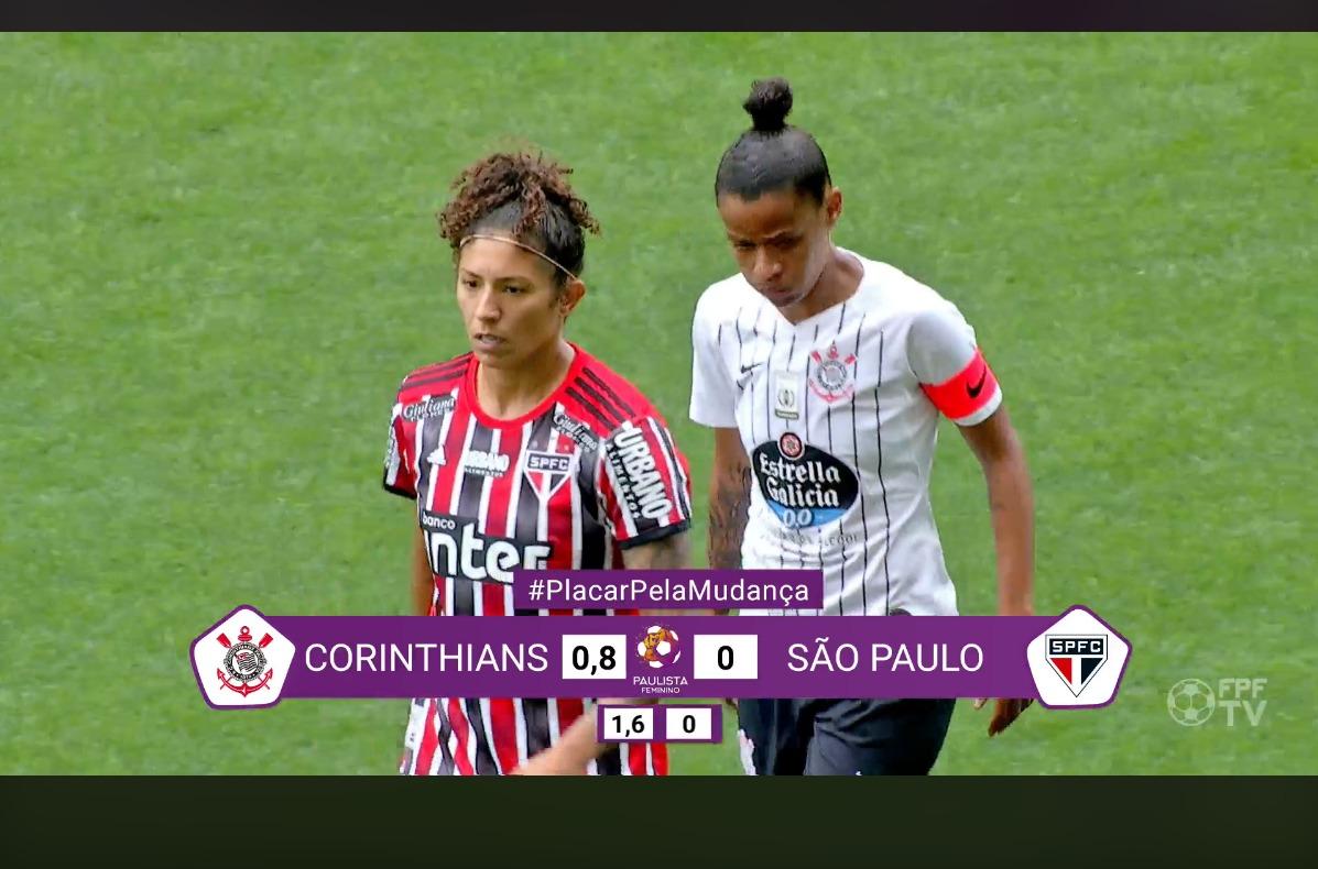 Placar do Paulista Feminino muda para mostrar diferença salarial entre homens e mulheres