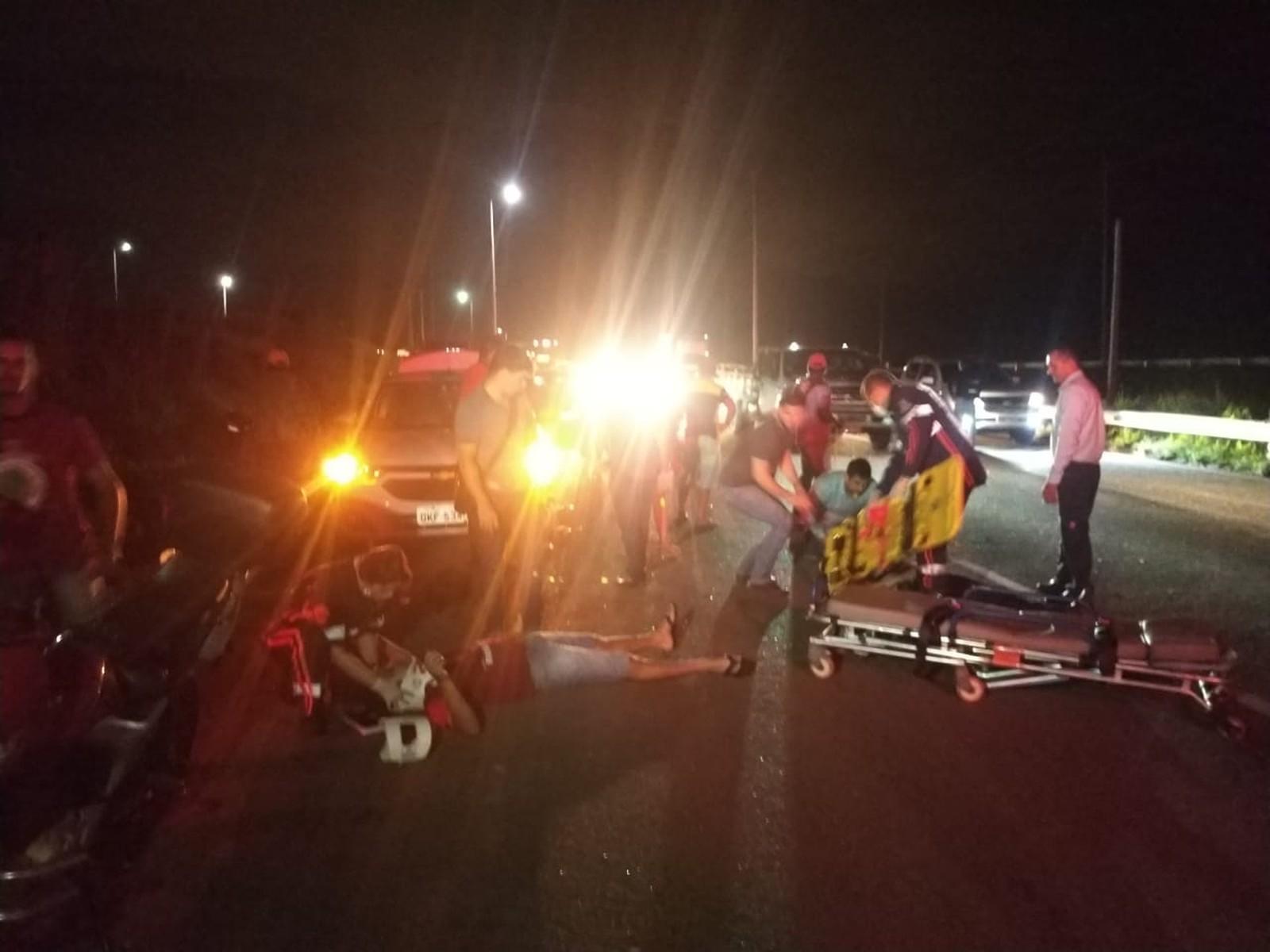 Acidente deixa três pessoas feridas na TO-050 em Palmas